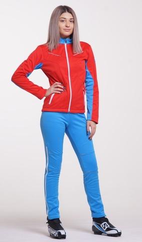 Утеплённый лыжный костюм Nordski National Red 2018 женский
