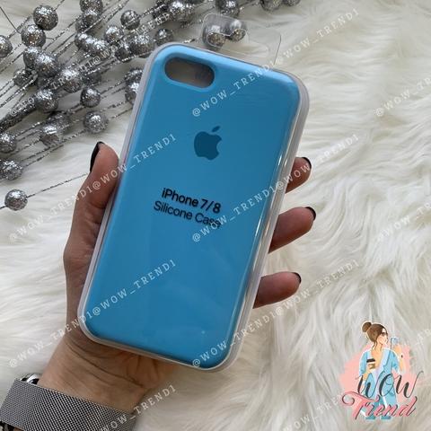 Чехол iPhone 7/8 Silicone Case /blue/ ярко-голубой 1:1