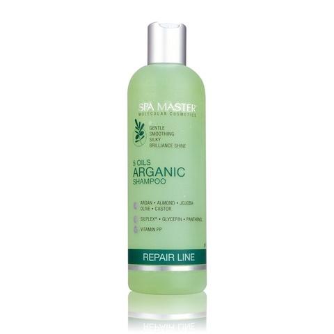 Аргановый шампунь для восстановления волос, 330 мл.