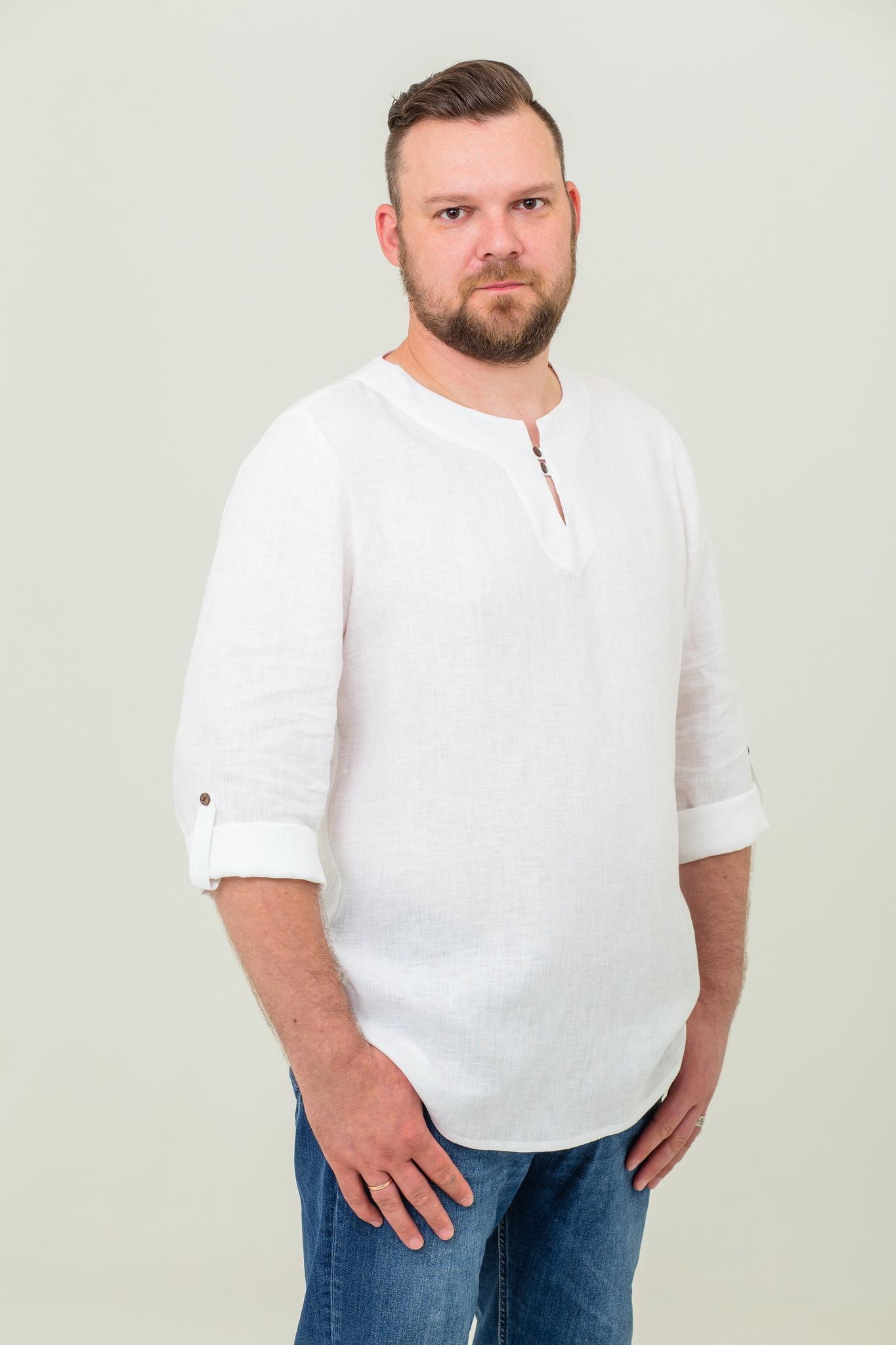 Рубашка мужская современная в русском стиле Свежий ветер