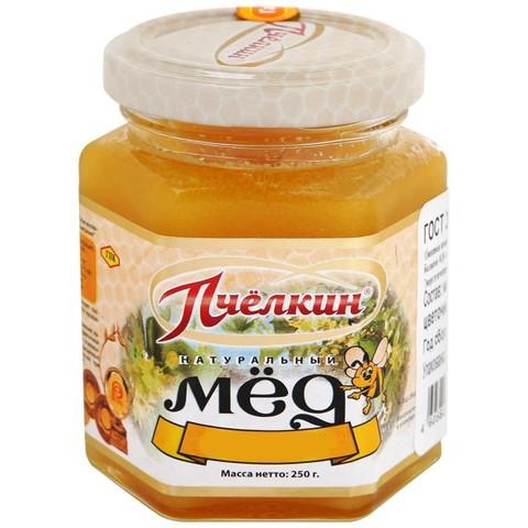 Мед гречишный в стеклянной банке Пчёлкин мёд, 250г