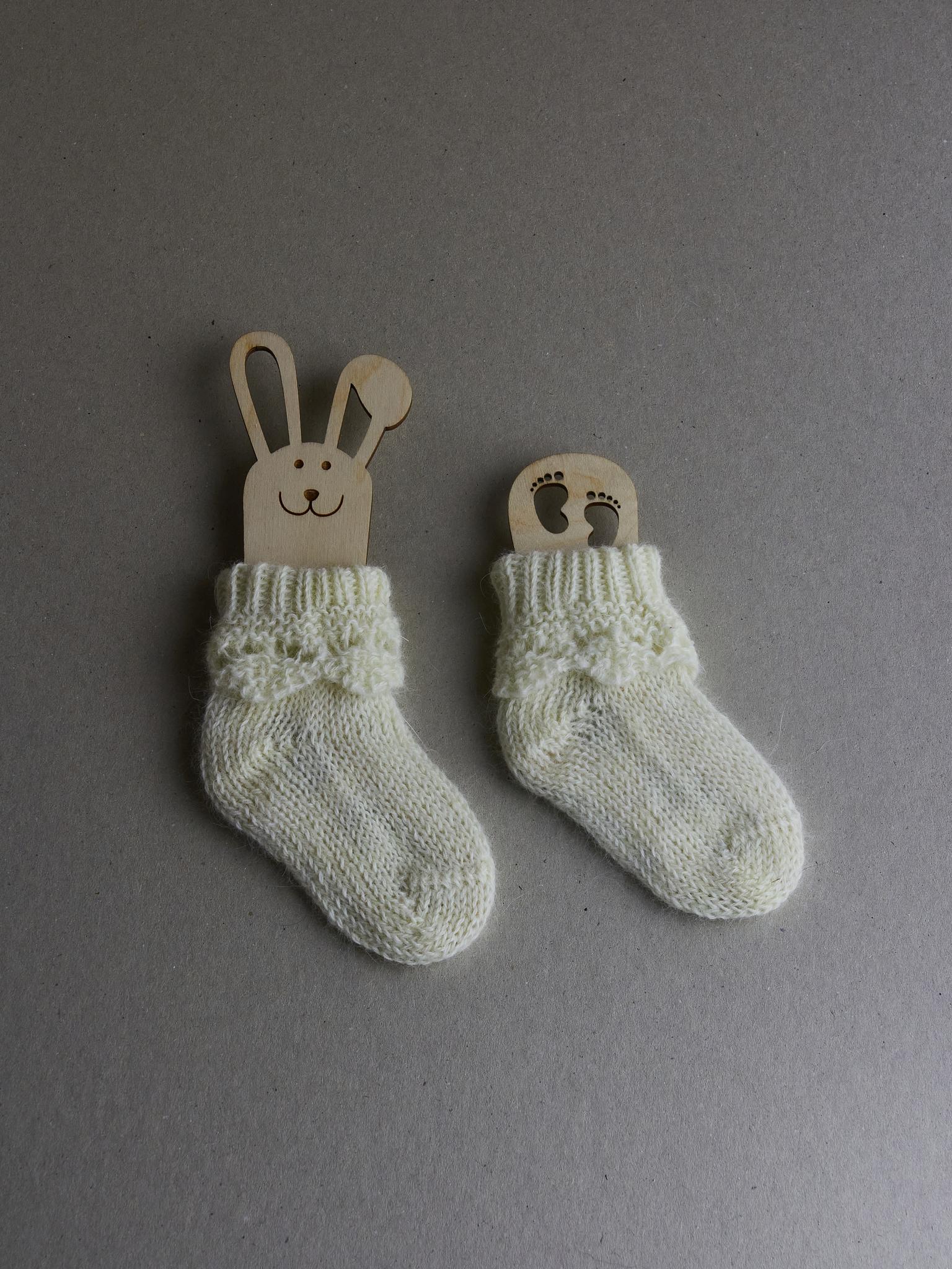 Детские носочки вязаные из ангоры