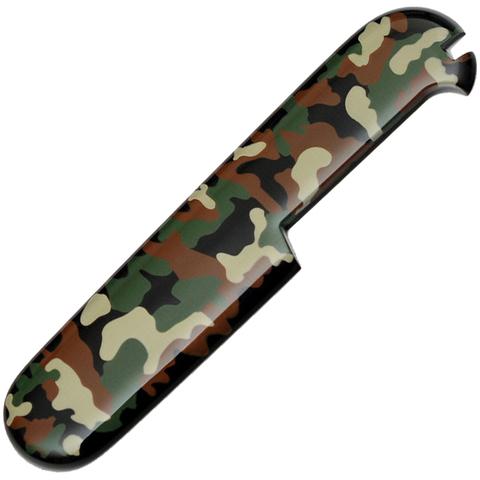 Задняя накладка для ножей Victorinox 91 мм, зеленый камуфляж