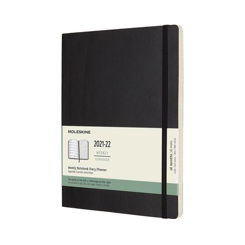 Еженедельник Moleskine ACADEMIC SOFT WKLY XL 190х250мм датир.18мес 208стр. мягкая обложка черный