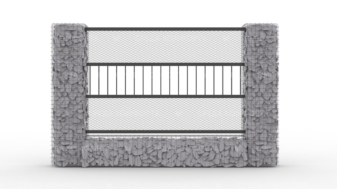 Забор из сетки рабицы 2500х2000 мм ZBR0178