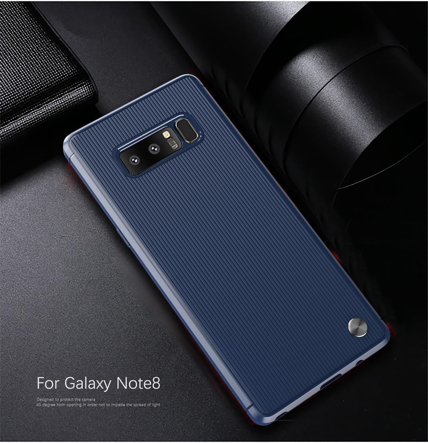 Чехол для Samsung Galaxy Note 8  цвет Blue (синий), серия Bevel от Caseport