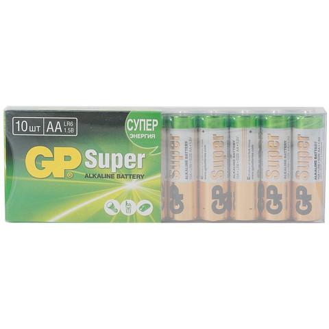 Батарейки GP Super пальчиковые AA LR6 (10 штук в упаковке)