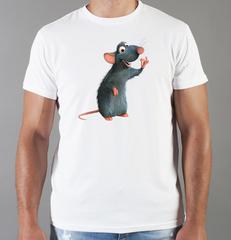 Футболка с принтом мультфильма Рататуй (Ratatouille) белая 005