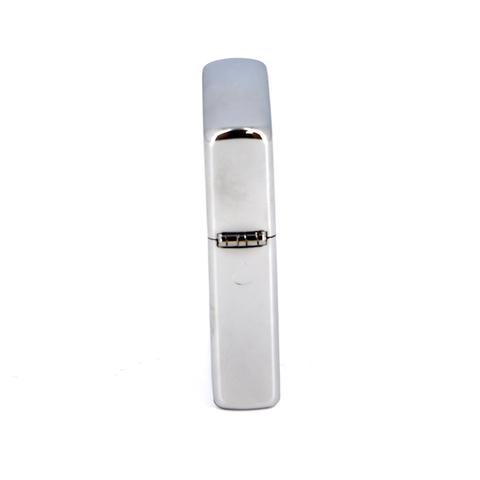 Зажигалка Zippo Stripes, с покрытием Brushed Chrome, латунь/сталь, серебристая с полосками и логотип123