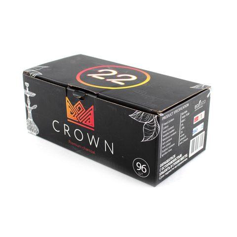 Уголь CROWN 22 кубик (96 штук)