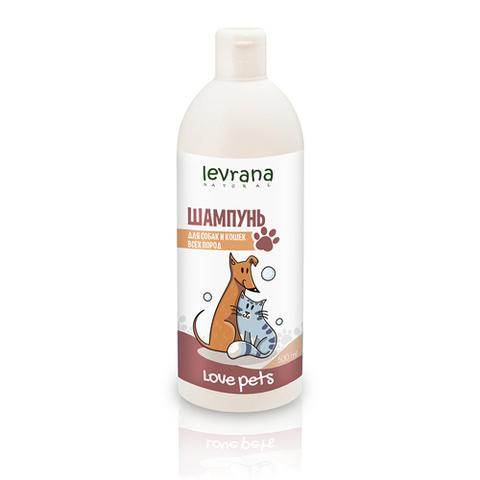 Levrana, Шампунь для собак и кошек всех пород, Love Pets, 500мл