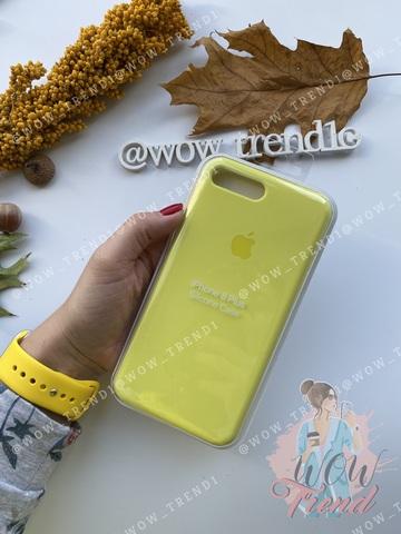 Чехол iPhone 7+/8+ Silicone Case Full /flash/ лимонный