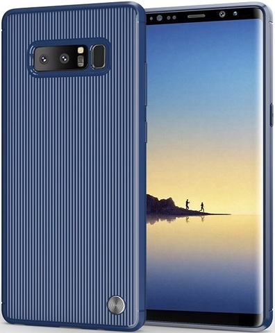 Чехол для Samsung Galaxy Note 8  цвет Blue (синий), серия Bevel от Caseport