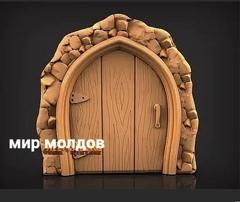 Силиконовый молд № 419 Дверь  большая  ( серия домики для гномов и фей)