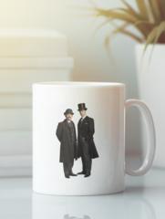Кружка с рисунком Шерлок (Sherlock, Бенедикт Камбербэтч) белая 0011