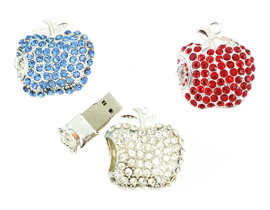 usb-флешка яблоко со стразами