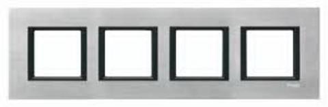 Рамка на 4 поста. Цвет Серебристый алюминий. Schneider electric Unica Class. MGU68.008.7A1