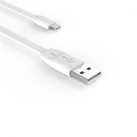Кабель Voltex Easy iPhone 5/6/7, плоский 1м. white