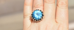 Шарли (кольцо + серьги из серебра)