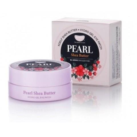 KOELF Pearl & Shea Butter Hydro Gel Eye Patch гидрогелевые патчи для кожи вокруг глаз с жемчугом и маслом ши