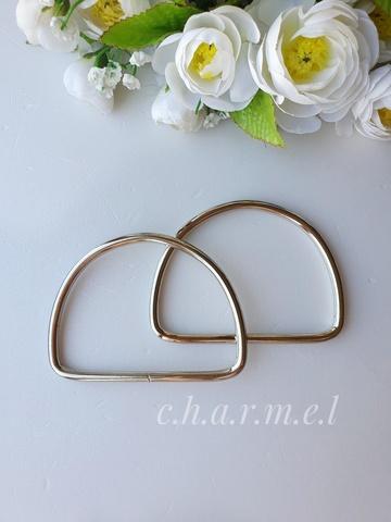 Ручки для сумок металл серебро 10х8 см, 2 шт