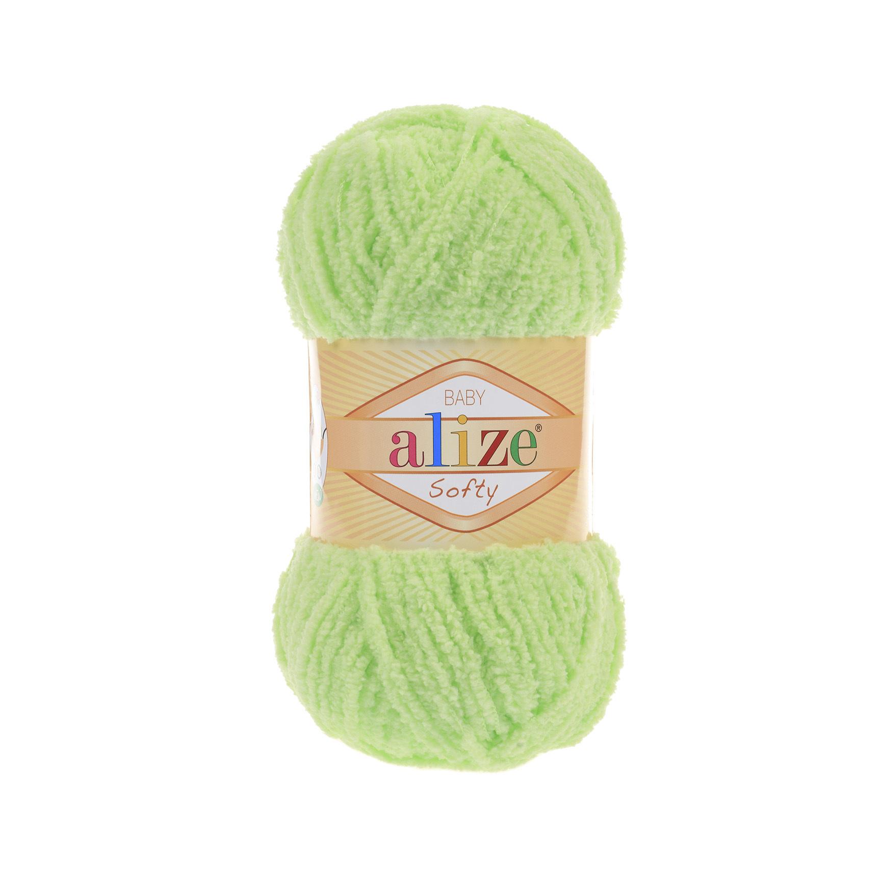 Пряжа Alize Softy салатный 41