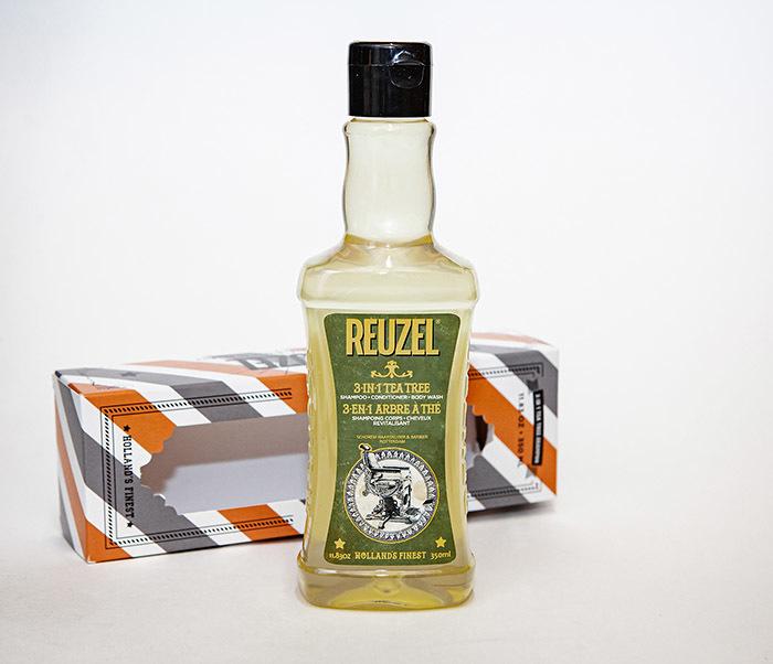 CARE169 Мужской шампунь REUZEL 3 в 1 с маслом чайного дерева (350 мл)