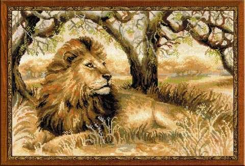 Набор для вышивания крестом «Царь зверей» (1261)