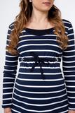 Лонгслив для беременных и кормящих 09826 синий/белый