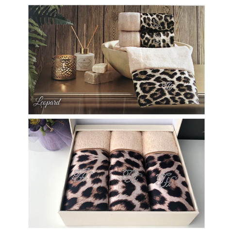 Набор салфеток Leopard 3пр по 30х50 TIVOLYO HOME Турция