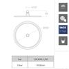 Круглая насадка для верхнего душа RM250NC никель - фото №2