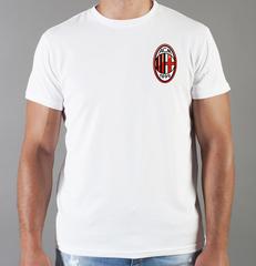 Футболка с принтом FC ACM Milan (ФК Милан) белая 009