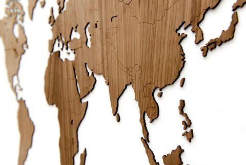 Карта мира Wall Decoration EXCLUSIVE 180x108 cm (Американский Орех)