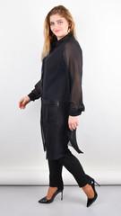 Кензо. Подовжений блузон plus size. Чорний.