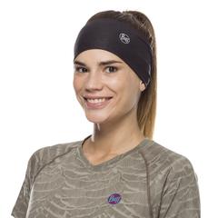 Повязка-чалма летняя Buff Headband Tapered CoolNet Solid Black - 2