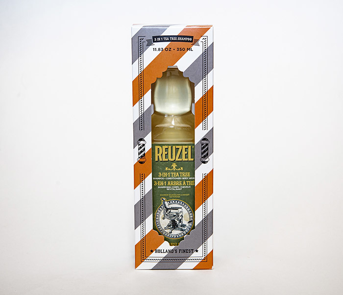 CARE169 Мужской шампунь REUZEL 3 в 1 с маслом чайного дерева (350 мл) фото 03