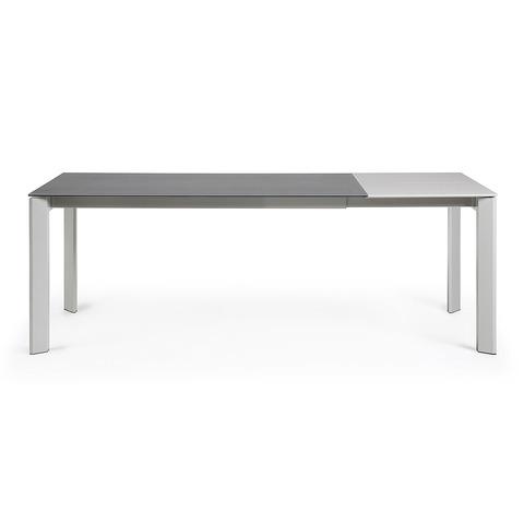 Стол Atta 160 (220) x90 серый керамический