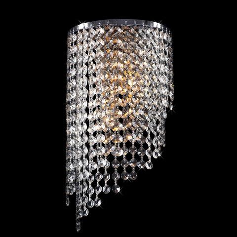 Бра с хрусталем 3102/2 хром / прозрачный хрусталь
