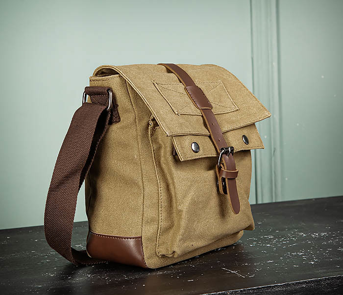 BAG503-2 Мужская сумка планшет из плотной ткани фото 03