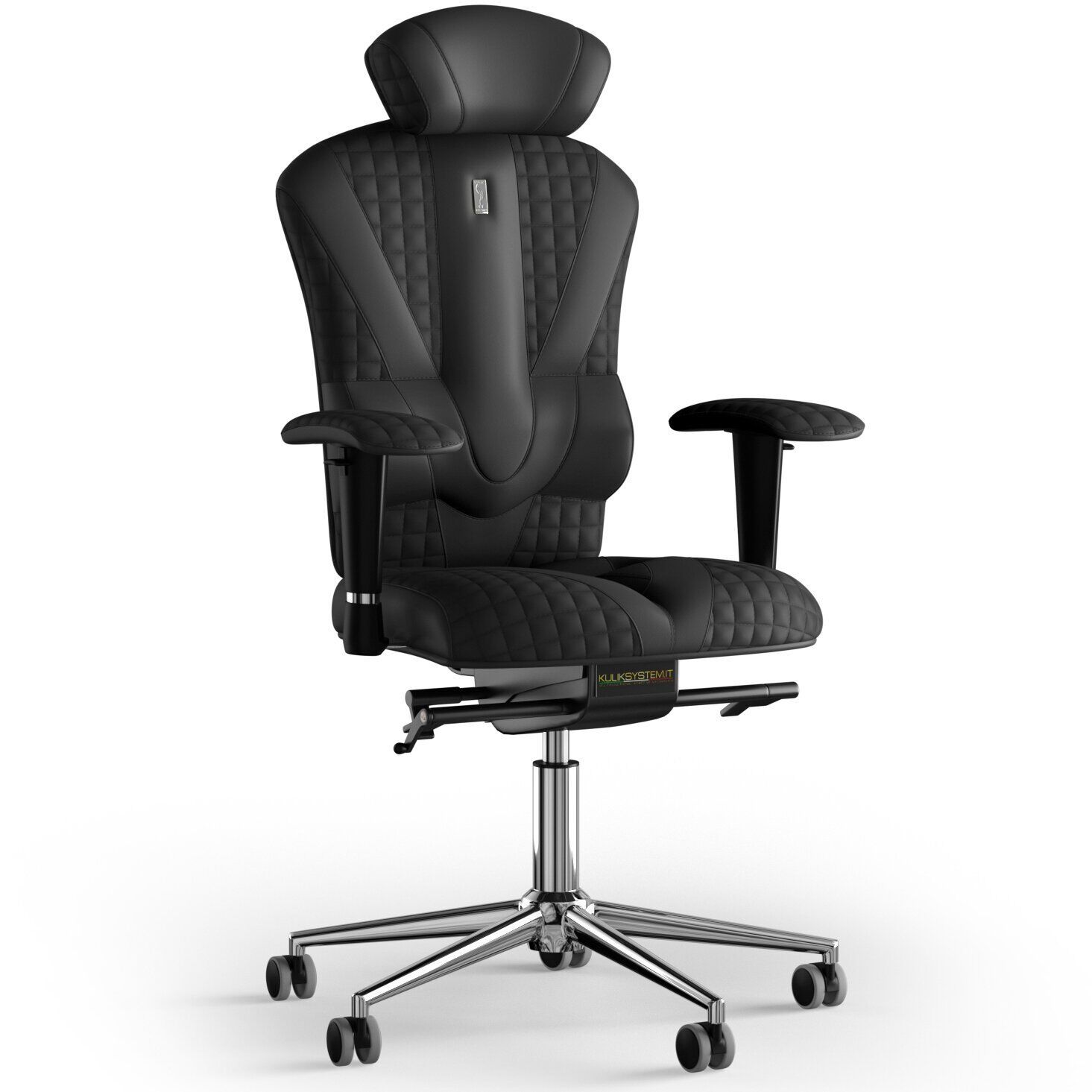Кресло KULIK SYSTEM VICTORY Экокожа с подголовником с дизайнерским швом