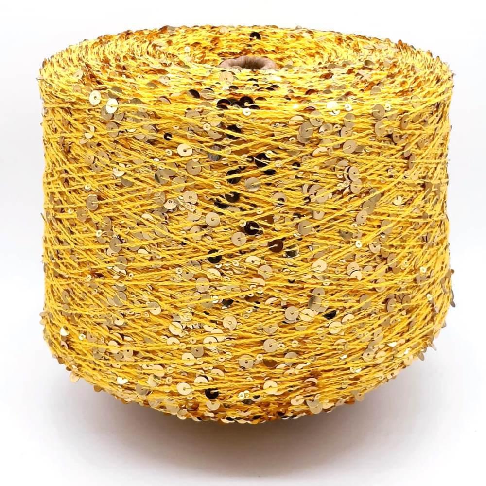 Пряжа Shine Paillettes 130 золото