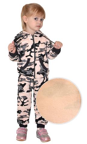 Костюм детский трикотажный BVR-Sport (Футер Розовый КМФ) 100 % хлопок