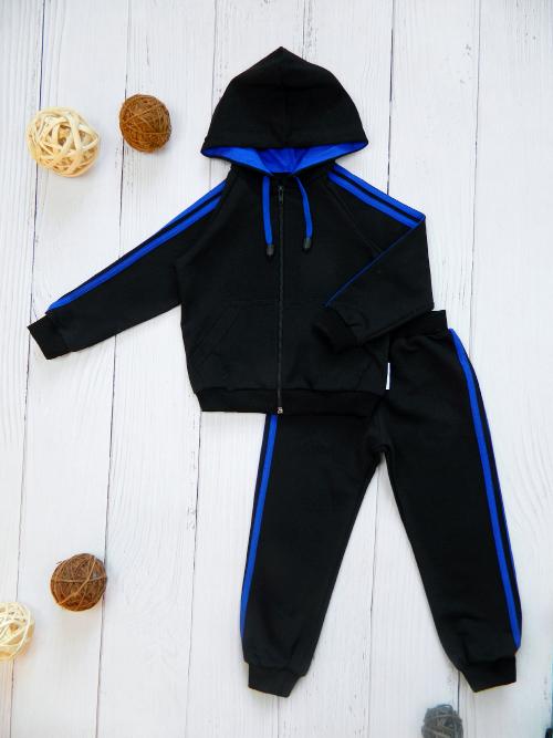 Костюм 3041, черно-синий