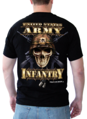 Футболка Black Ink Design Army Infantry Skull, черная, новая