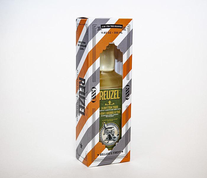 CARE169 Мужской шампунь REUZEL 3 в 1 с маслом чайного дерева (350 мл) фото 04