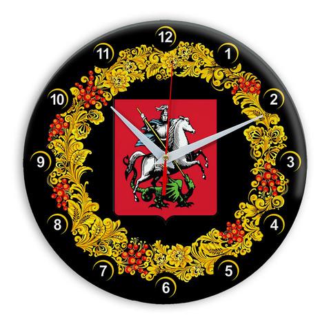 Часы в стиле Хохлома сувенирные Москва 03