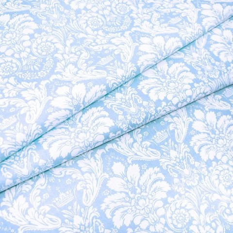 Поплин 220 см 115 г/м2 391/3 Дамаск цвет голубой