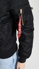 Бомбер Alpha Industries MA-1 W Black (Черный)