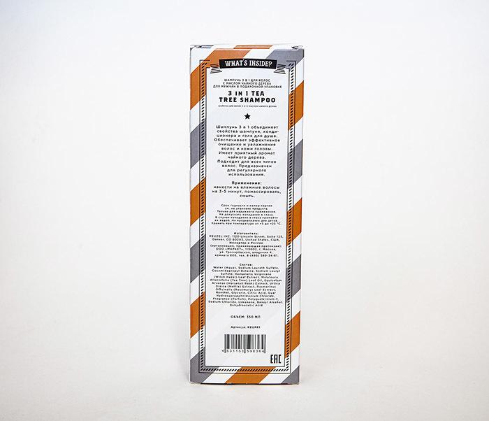 CARE169 Мужской шампунь REUZEL 3 в 1 с маслом чайного дерева (350 мл) фото 05
