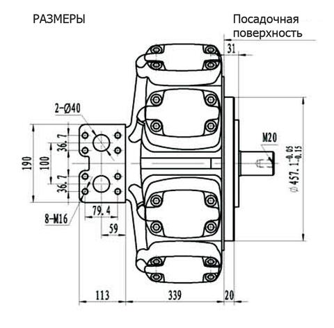 Гидромотор IPM9-4800